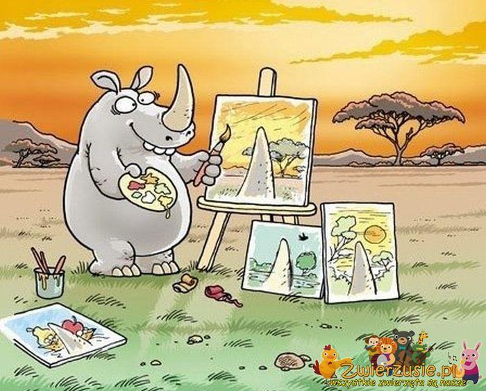 Nosorożec malarz